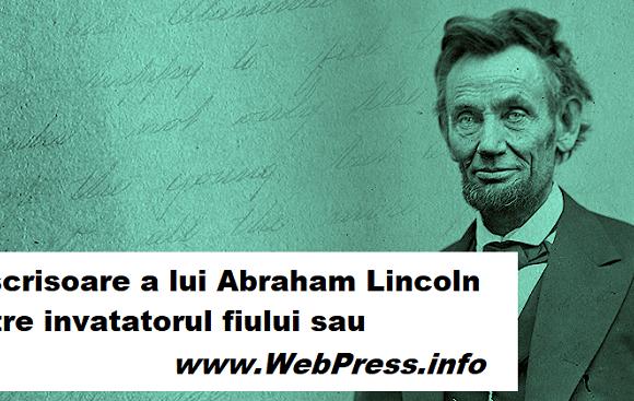 O scrisoare a lui Abraham Lincoln