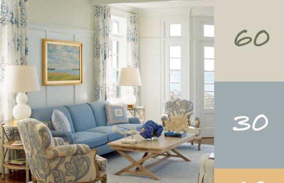 Regula 60-30-10 pentru combinatia de culori in designul de interior (I)